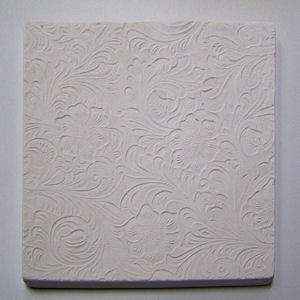 Textured Fusing Tile - Tooled Leather