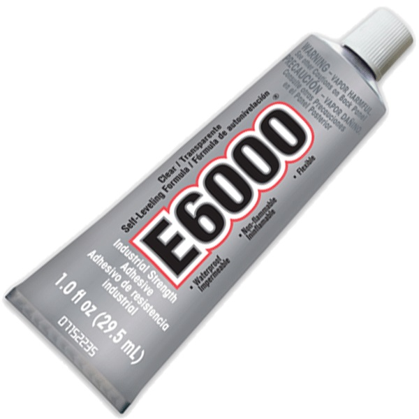 E6000 1oz tube with glue tip